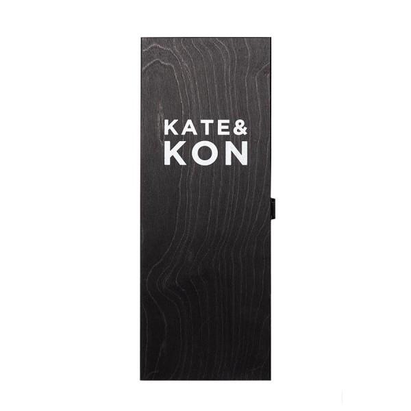 Kate & Kon Holzkiste für 1 Magnum mit Klappdeckel schwarz