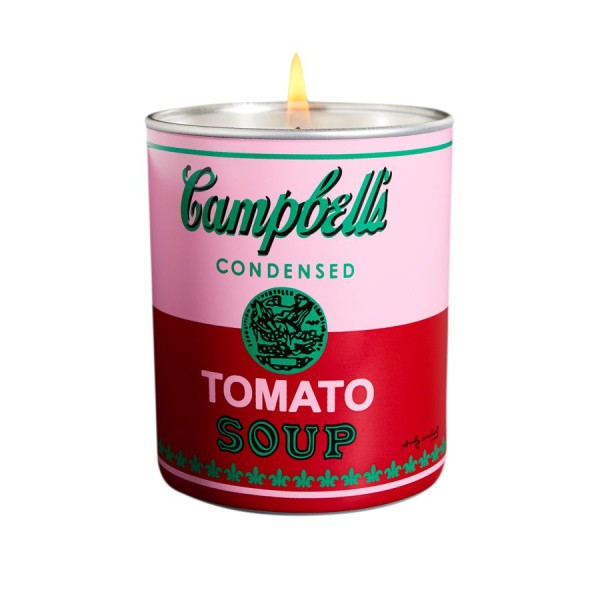 """Andy Warhol Duftkerze """"Campbell"""" Pink / Red - Tomato Leaf"""